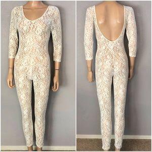 Vintage Victoria's Secret Gold Label Lace Jumpsuit